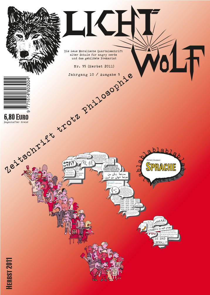 """Lichtwolf Nr. 35 (""""Sprache"""")"""