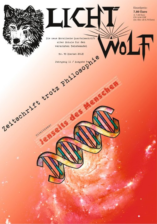 """Lichtwolf Nr. 39 (""""Jenseits des Menschen"""")"""