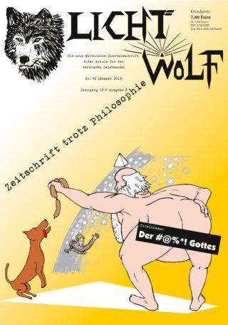 """Lichtwolf Nr. 42 (""""Der #@%*! Gottes"""")"""