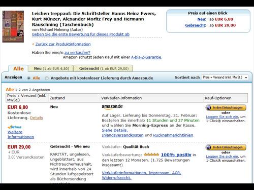 Bücher billiger bei Amazon? Klar.