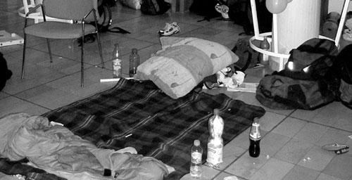 Punkiges indoor campen