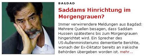SPON mit Saddam